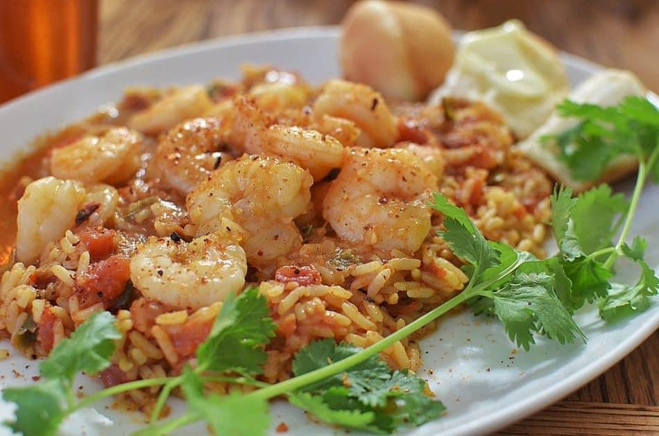 spécialités gastronomiques Seychelles Crevettes au riz et au coriandre
