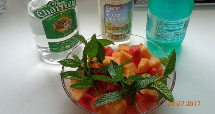 gaspacho melon menthe les ingrédients