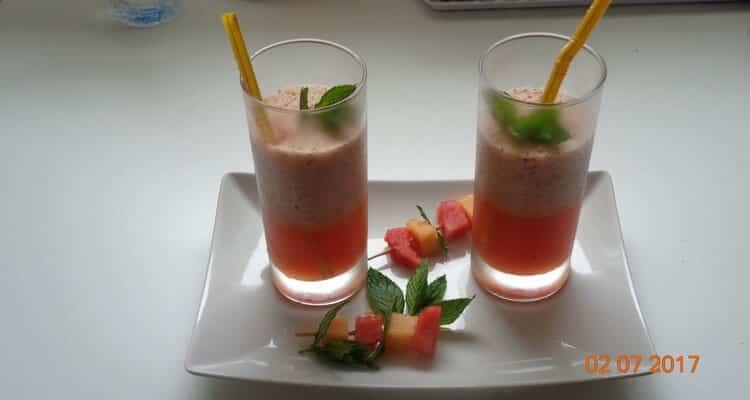 gaspacho melon menthe verres de service