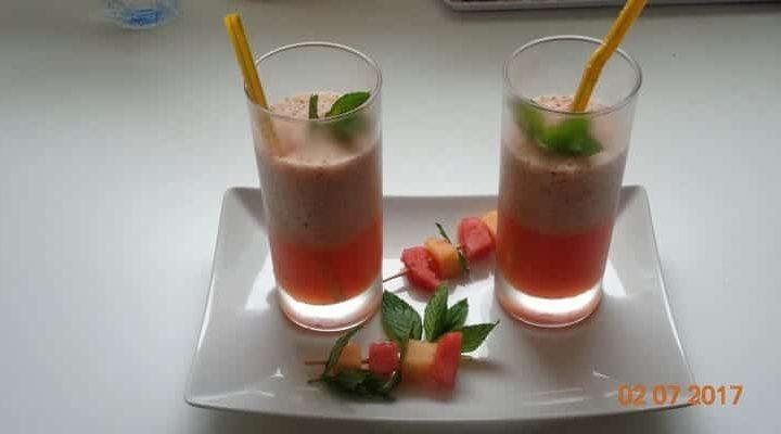 Comment faire un cocktail gaspacho melon menthe pastèque façon mojito