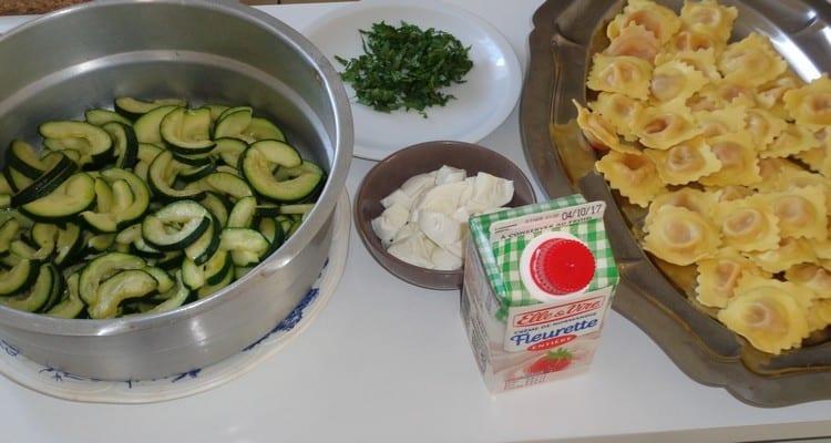 Gratin de raviolis individuel, les ingrédients