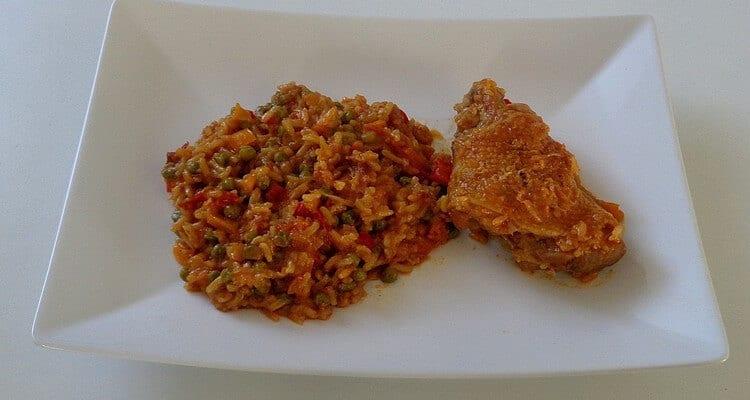 riz au poulet, assiette dégustation