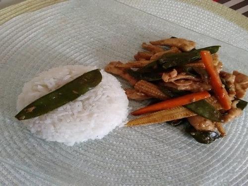 Riz cuit - Cuisine chinoise américaine
