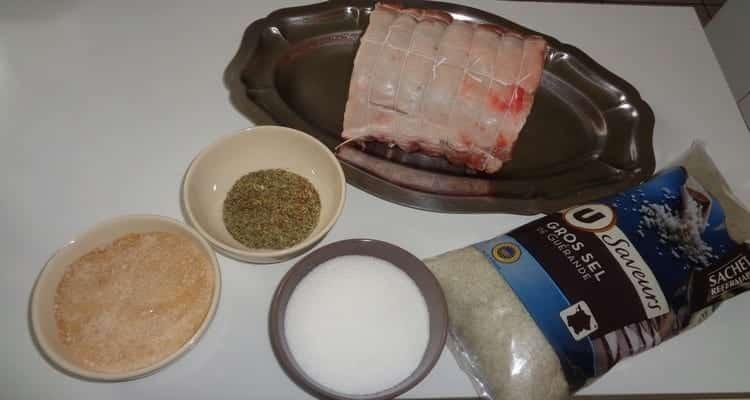 filet de porc en croûte d'herbes, les ingrédients