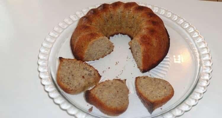 gâteau à la purée de banane