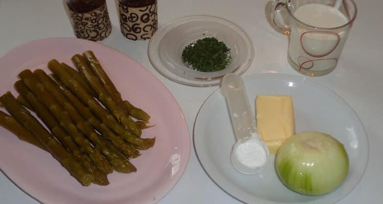 Velouté d'asperges les ingrédients