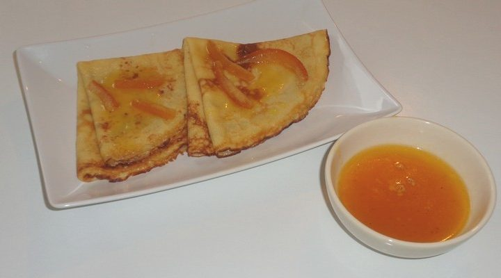 Recette crêpe suzette non flambée Grand Marnier, jus de citron, jus d'orange