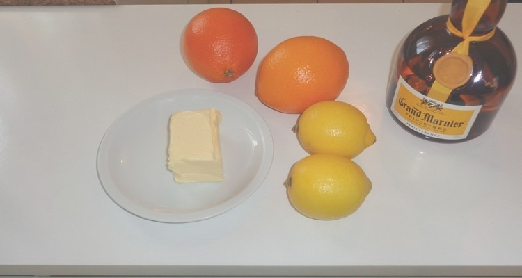 crêpe suzette tous les ingrédients