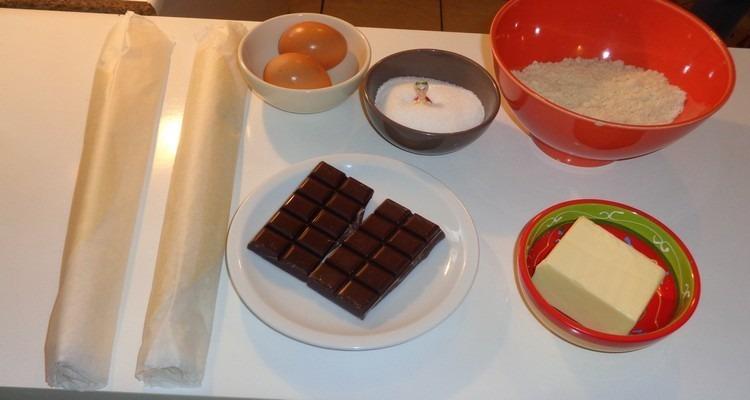 Galette frangipane chocolat,les ingrédients