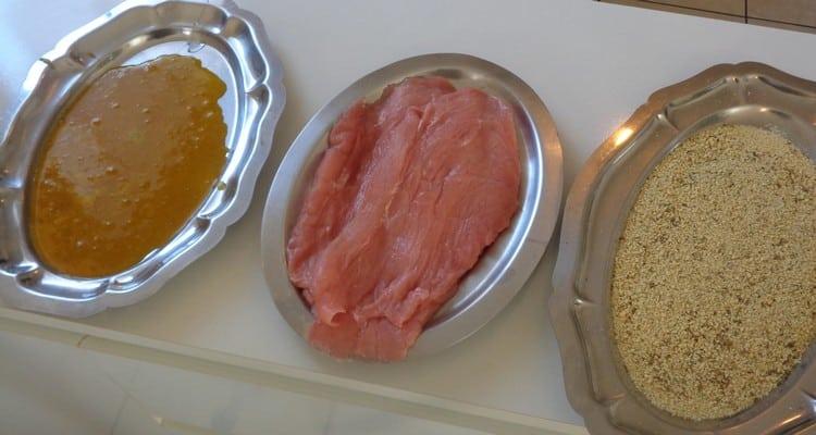 Escalope de veau panée, les ingrédients