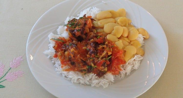 assiette de rougail porc boucané