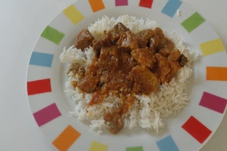 assiette rouelle de porc au massalé