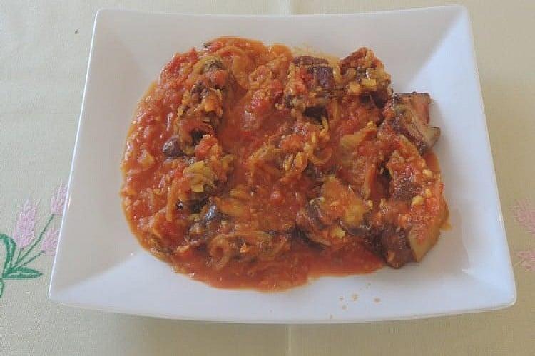 rougail porc boucane le plat de service