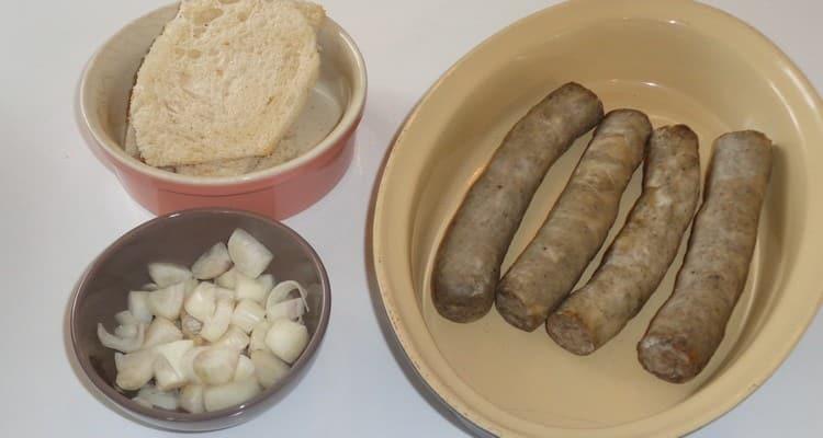 Andouillette mie de pain les ingredients