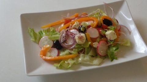 salade grecque assiette de dégustation