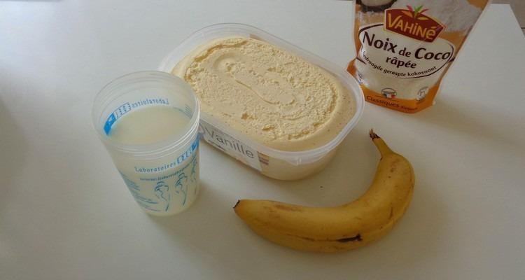 Milk-Shake Banane, les ingrédients