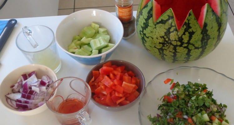 gaspacho pasteque tous les ingredients pour reussir
