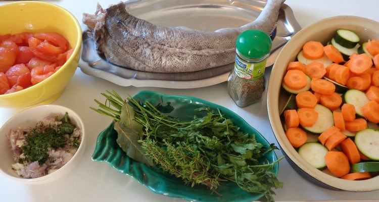 merlu au four, les ingrédients pour préparer la recette
