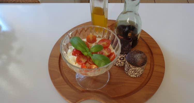 Tiramisu tomate cerises mozzarella