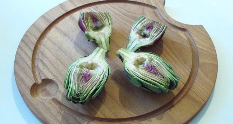 artichaut barigoule coupe en quatre