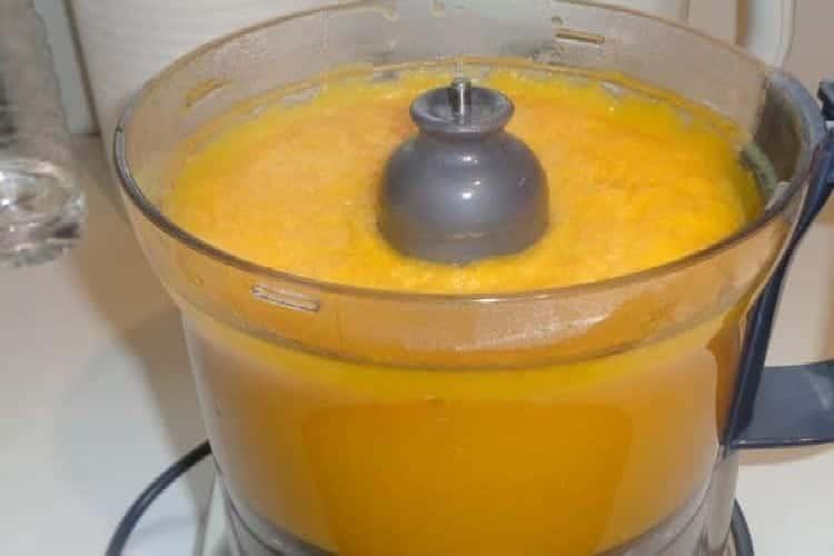 soupe de courge passée au blender