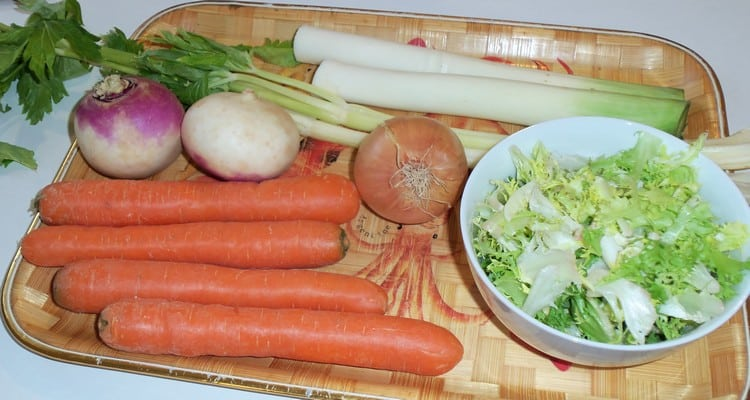 soupe de légumes, soupe paysanne, tous les légumes