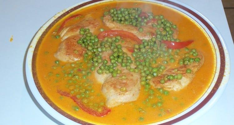 Filet de poulet poêlé, présentation du plat