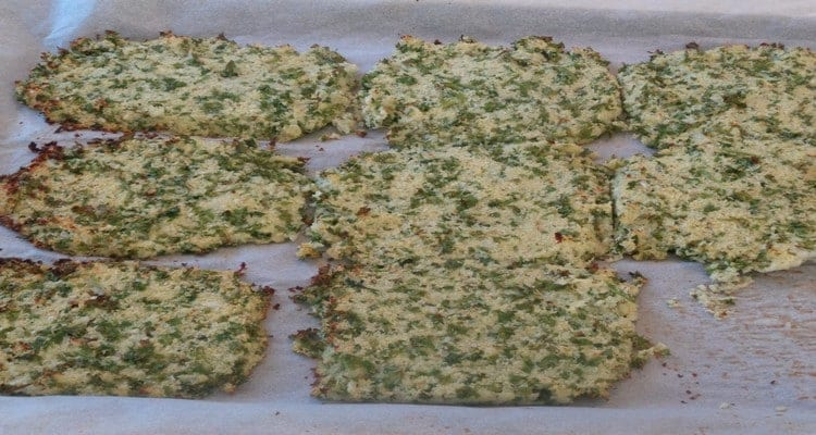 croque chou fleur, cuisson sur papier sulfurisé