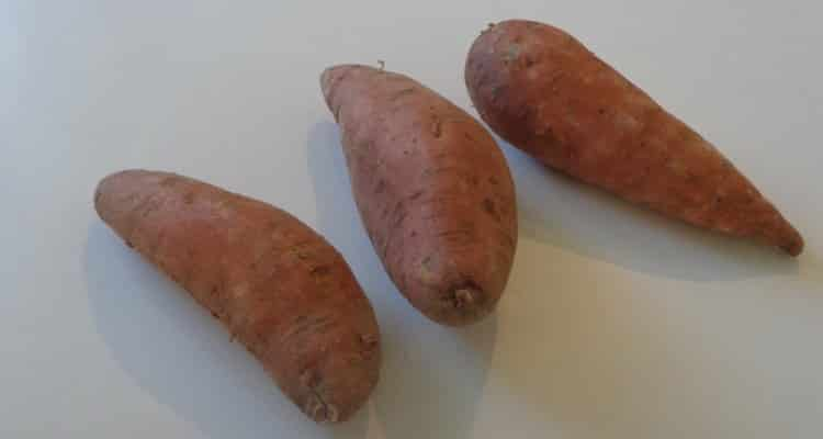 crumble patate douce avant la cuisson