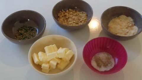 crumble patate douce tous les ingrédients pour la recette