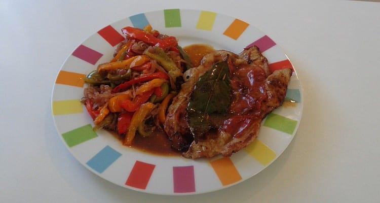 saltimbocca en assiette de dégustation