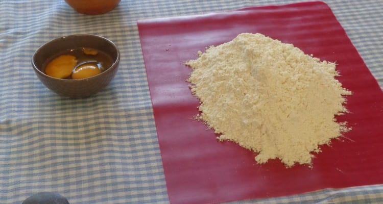 preparation de la pate sablee pour la tarte fraise