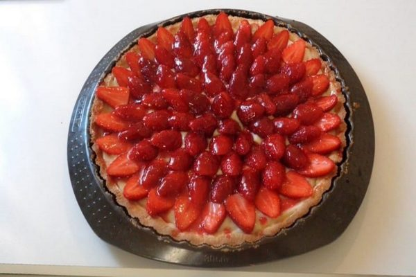 tarte fraise pate sablee creme patissiere