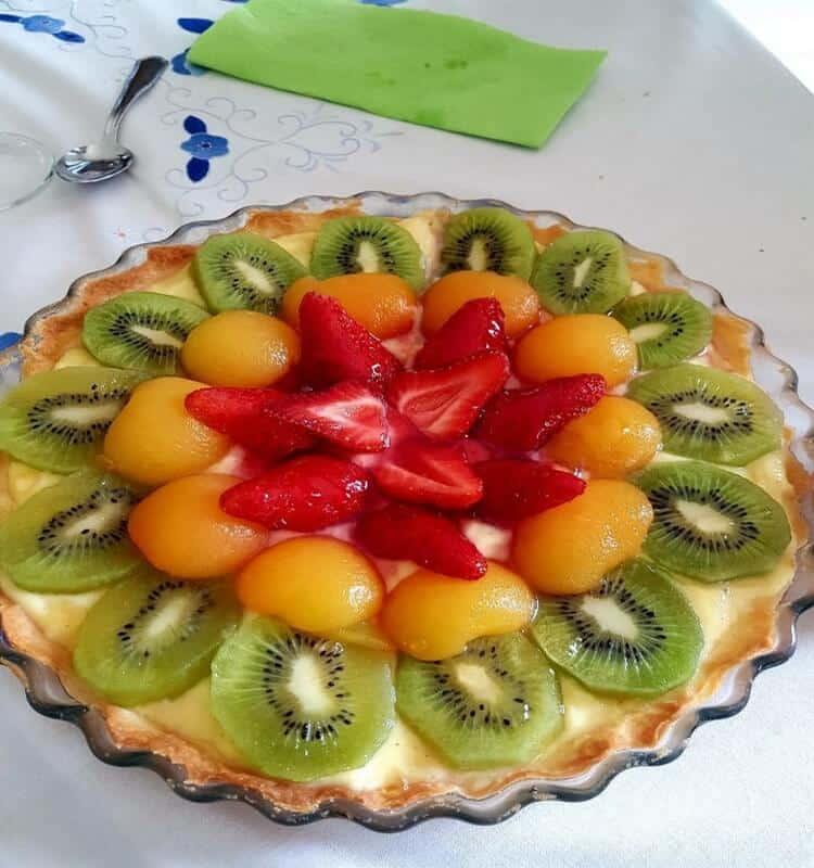 tarte avec 3 fruits, la présentation