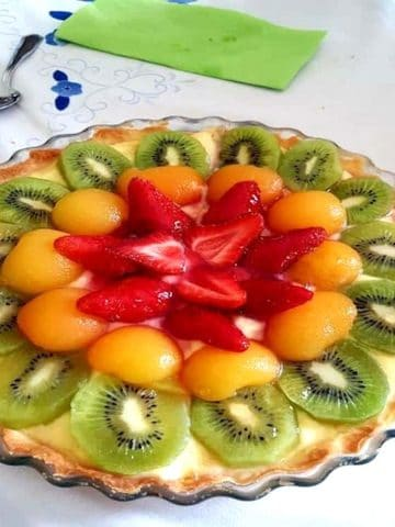 Tarte avec 3 fruits