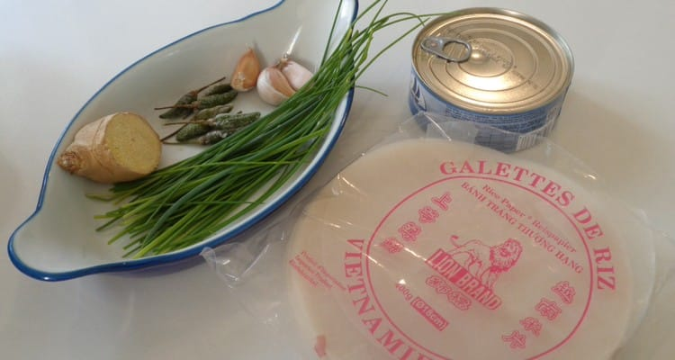 Cigare galette de riz au thon détails de la recette