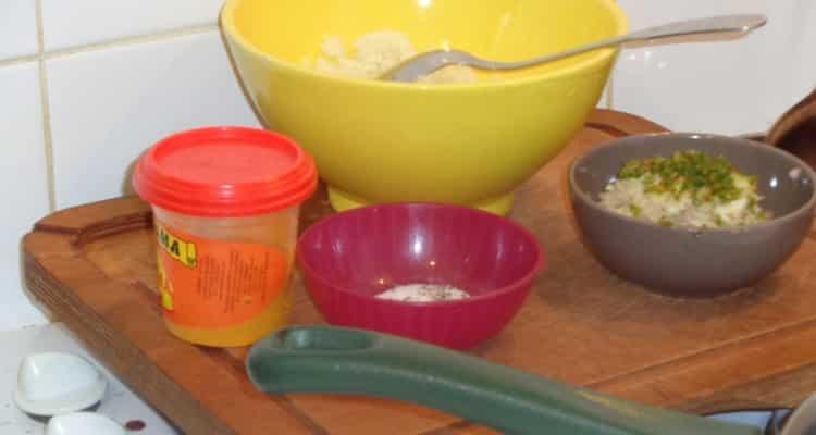 les ingrédients pour faire les raviolis chouchou