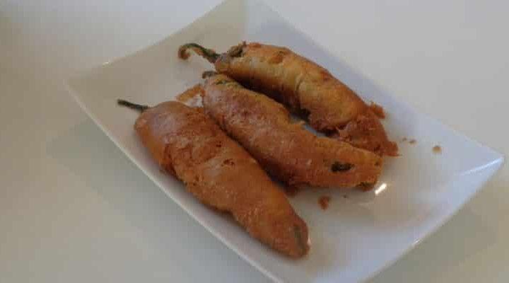 Gros Piments Farcis Beignet Créole à la chair à saucisse