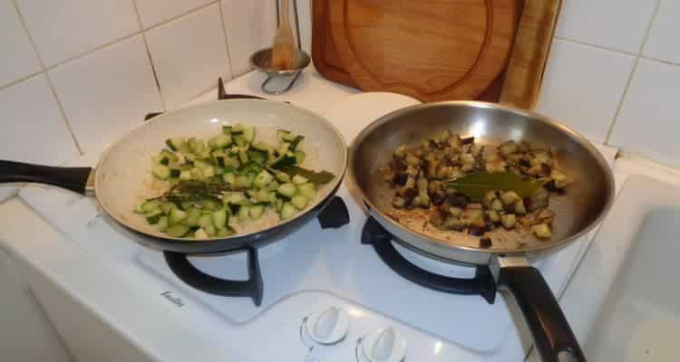 Petit Feuilleté Plein de Légumes, la cuisson des légumes