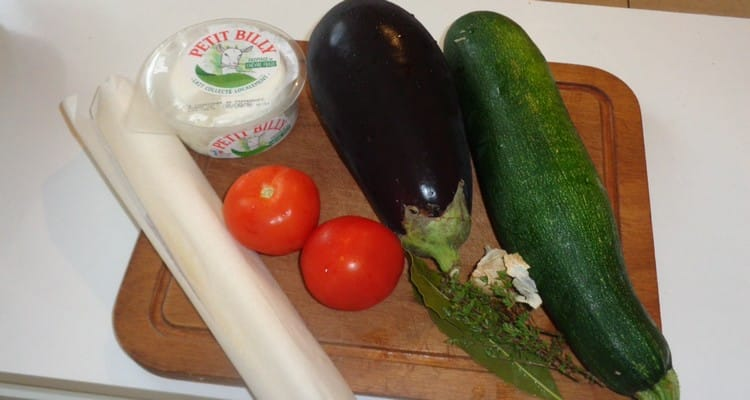 Petit Feuilleté Plein de Légumes, les ingrédients pour la recette
