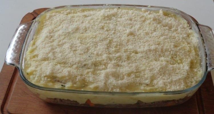 cuisson au four avec parmesan du hachis parmentier