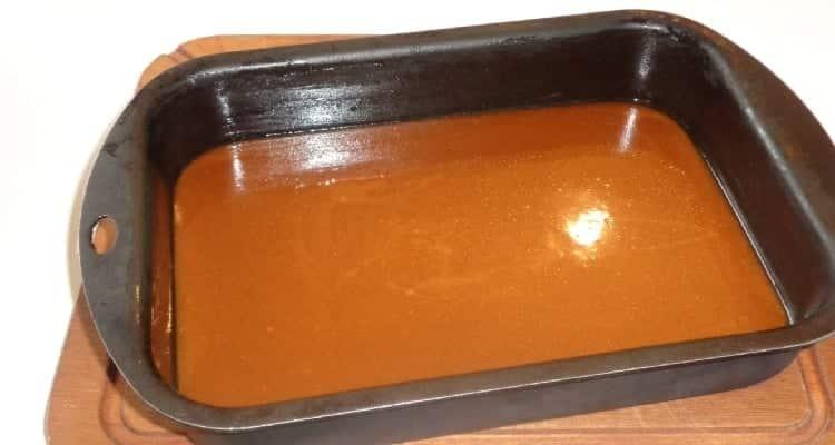 caramels beurre salé au repos dans le moule