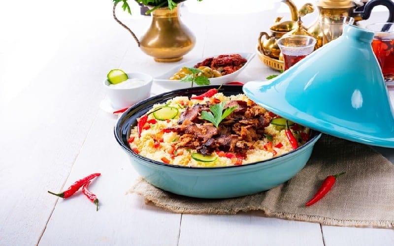 tajine de poulet aux olives, la cuisson