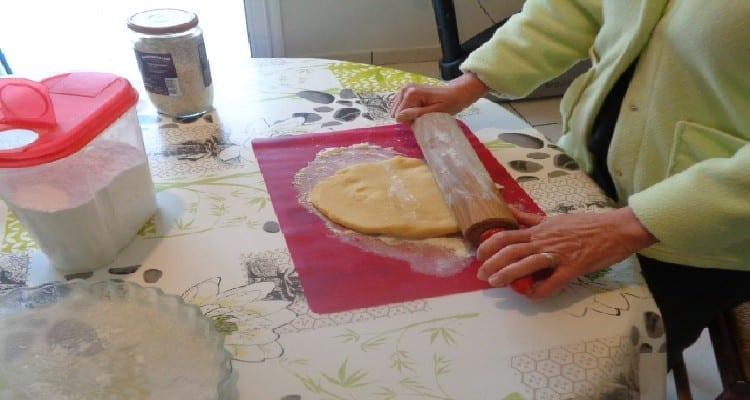 préparation de la pâte sucrée