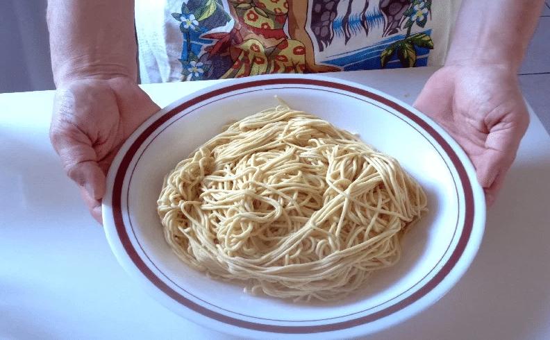 extrusion du spaghetti