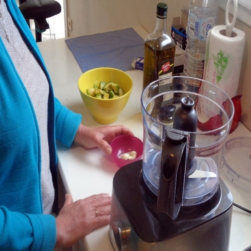 mixage des ingredients