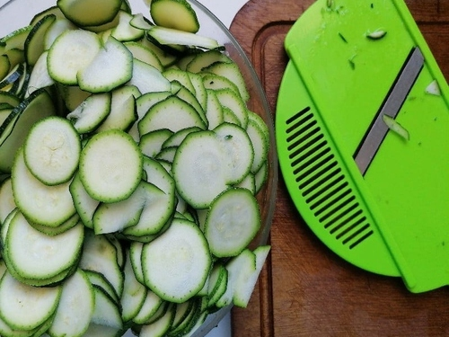 Concombre - Cuisine végétarienne - gratin de raviolis