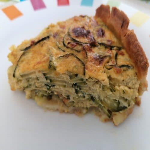 Quiche - Oignoncake - part du gateau de courgette