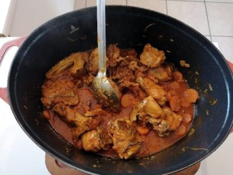 Curry - Indian cuisine - poulet aux carottes