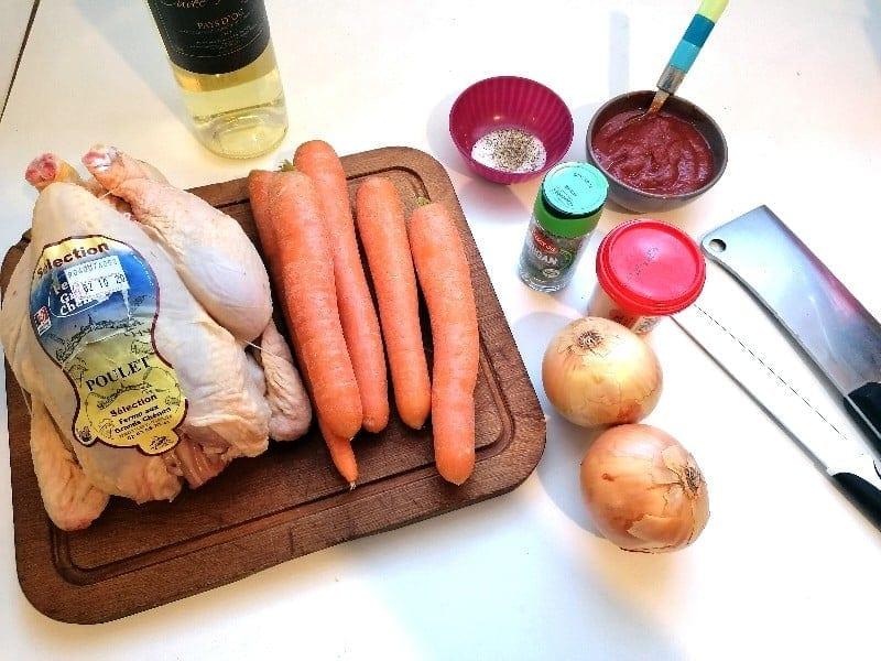 Légume - Kielbasa - poulet aux carottes